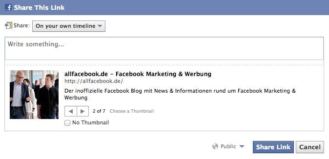 Totgesagte leben länger – Facebook Share / Teilen ist zurück!