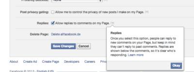 Kleiner Rückzieher von Facebook: Verschachtelte Kommentare & Sortierung nach Relevanz bleiben weiterhin optional