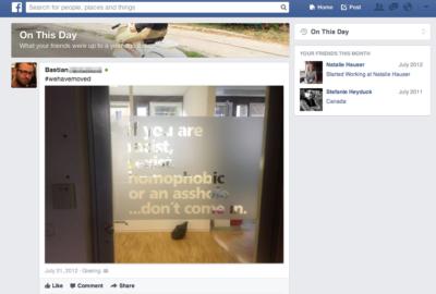 """""""An diesem Tag"""" – Neuer Newsfeed Filter erlaubt eine kleine Facebook-Zeitreise ins letzte Jahr"""