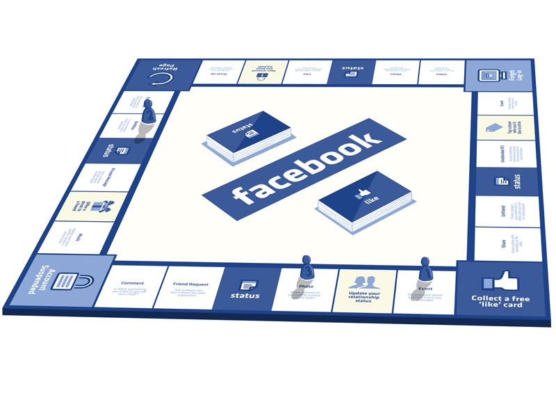 Lustige Idee: Facebook das Brettspiel!
