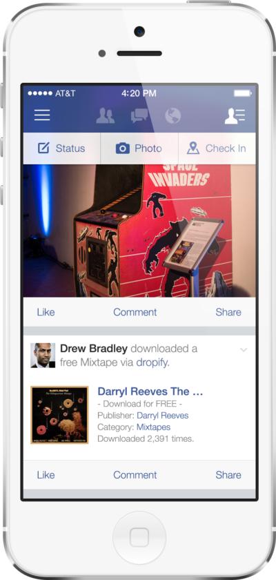 Mockup: So könnte Facebook unter iOS7 aussehen