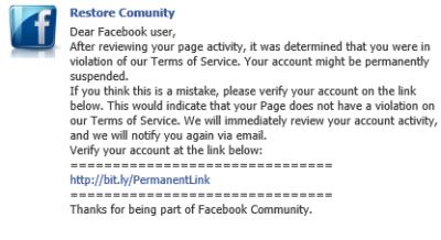 Achtung vor Phishing-Nachricht für Facebook-Seiten – mit etwas Pech ist der komplette Facebook-Login in falschen Händen!