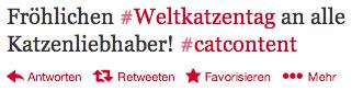 #Weltkatzentag alias #WeltCommunityManagerTag