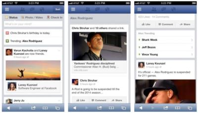 "Facebook testet ""Trending Topics"": Beliebte Themen auf Facebook direkt im Newsfeed lesen."