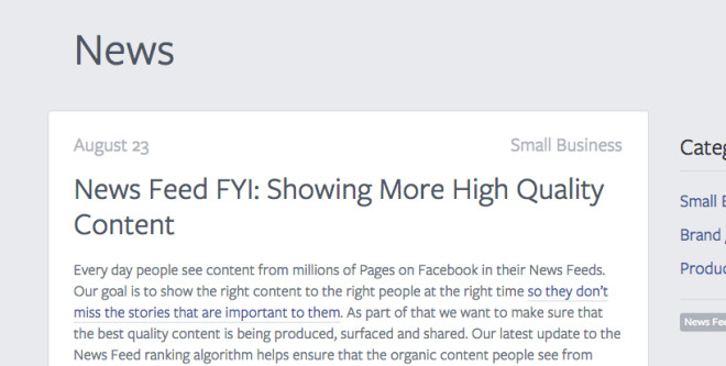 News Feed FYI: Showing More High Quality Content | Facebook for Business 2013-08-26 13-33-11