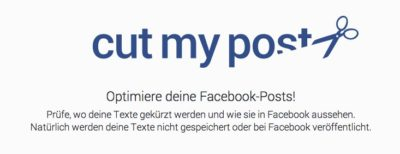 """""""Cut my Post"""" hilft beim Texten von Statusupdates"""