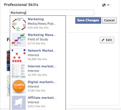 Facebook als Karrierenetzwerk? Neuer Test mit Berufsqualifikationen im Profil.