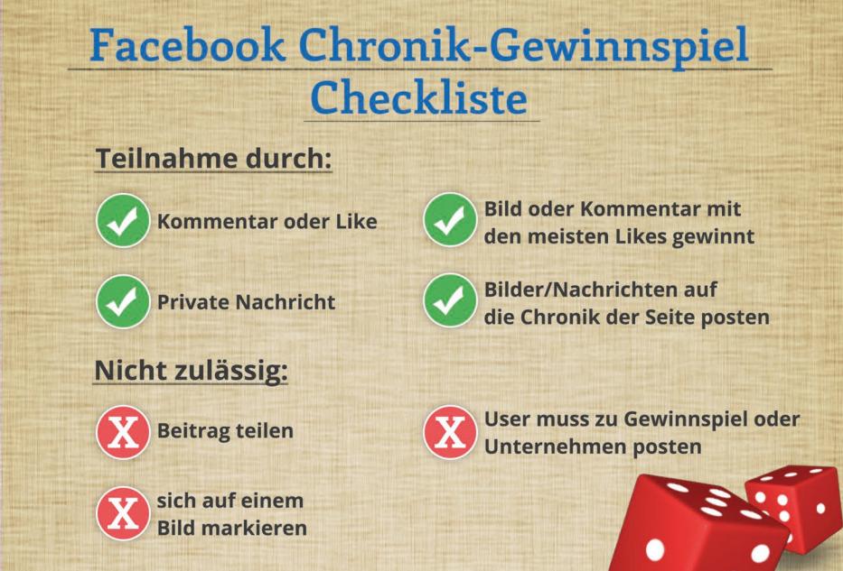 Checkliste: Das gilt es, bei einem Facebook Gewinnspiel zu beachten.