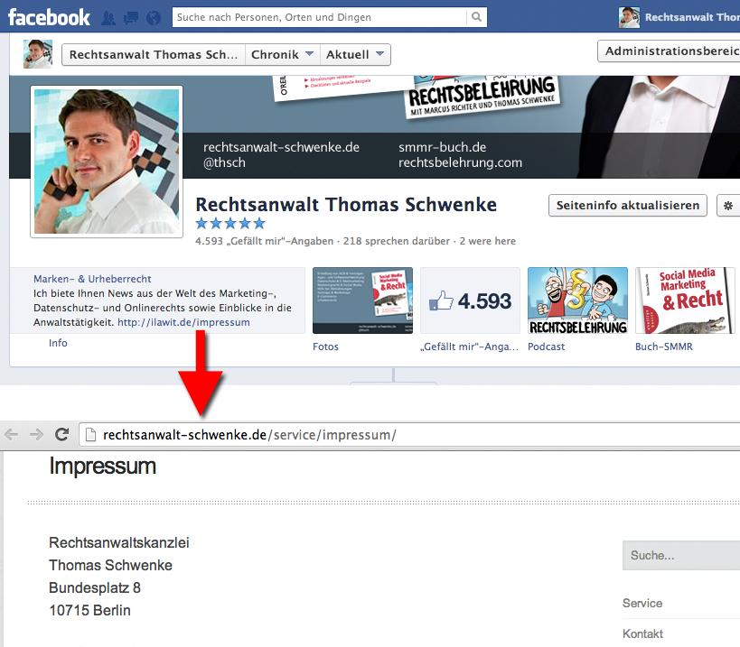 Update nach Designänderungen: Anleitung zum sicheren Facebook-Impressum (Update)