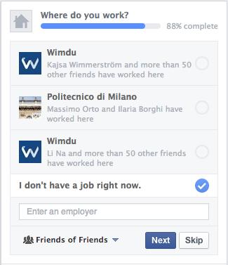 Auf Jobsuche? Facebook testet neue Optionen im Profil.