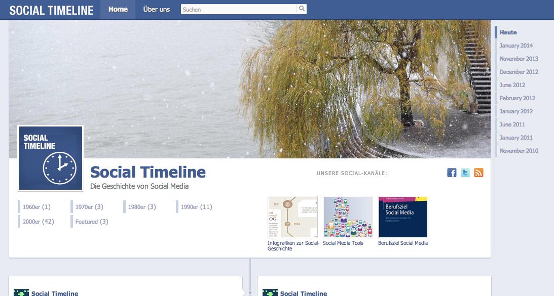 """""""Social Timeline"""": Die Geschichte von Social Media im Timeline-Design"""