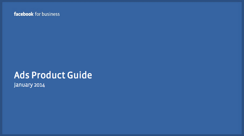 Aktuelle Übersicht aller Facebook-Werbeformate und deren Spezifikationen (Stand: Januar 2014)