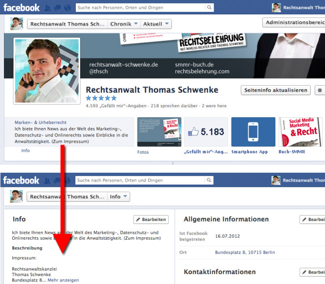 Facebook Impressum Darstellung Alternative 2