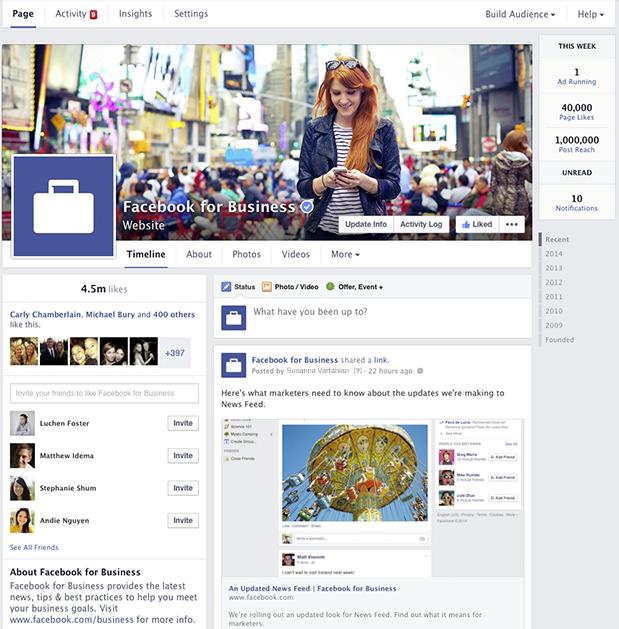 Neues Facebook Pages Design jetzt für alle