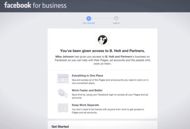 Anmeldung am Business Manager für einzelne Nutzer