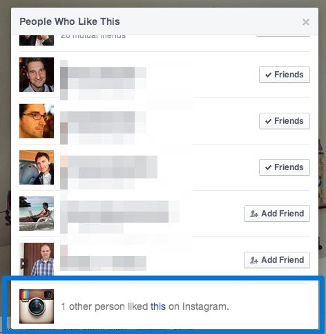 Instagram Likes auf Facebook