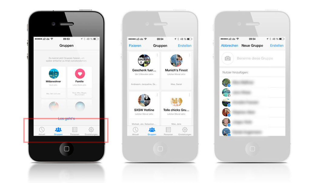Facebook Messenger für iOS mit Gruppen und Weiterleitungen