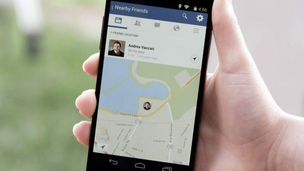 Neues Feature: Facebook-Freunde in der Nähe