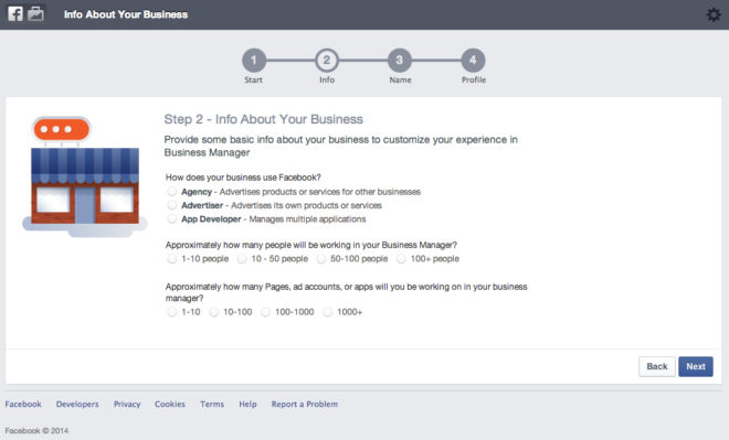 Anmeldung - Informationen über das eigene Unternehmen