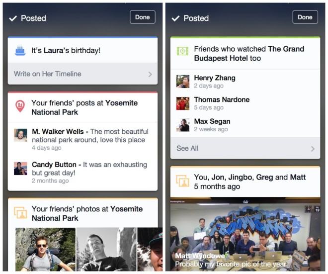 Facebook Context Cards zeigen relevante Informationen nach dem Veröffentlichen eines Inhalts an