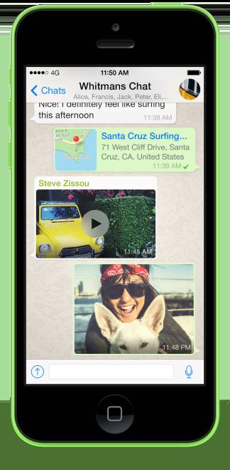 WhatsApp auf dem iPhone als Beispiel Screenshot
