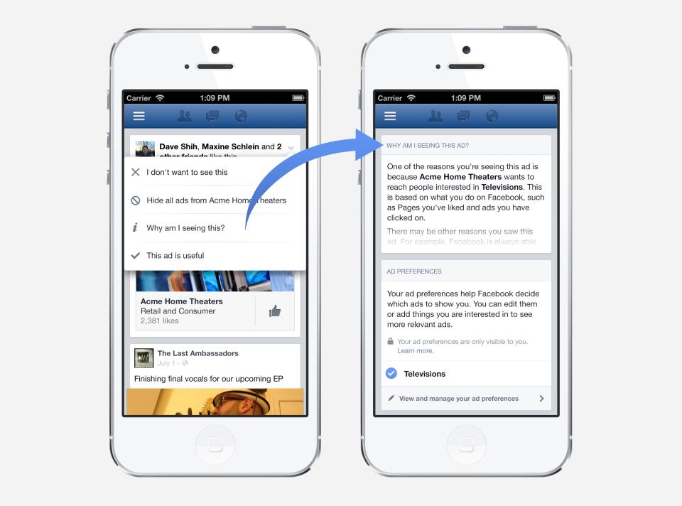 Anzeigen-Präferenzen – Facebook gibt Nutzern mehr Kontrolle über die Anzeigen im Newsfeed