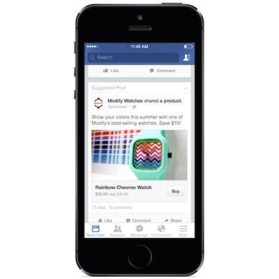 Neuer Test: Facebook verkauft Produkte von Seiten direkt im Newsfeed