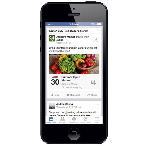 Anzeigen für Facebook Events bald auch im Newsfeed verfügbar