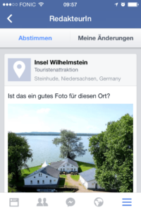 Places Editor unter iOS