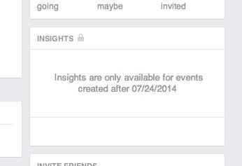 Facebook Event Insights nicht verfügbar