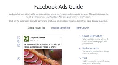 Nie wieder PDF Updates: Facebook mit Online Ad Guidelines