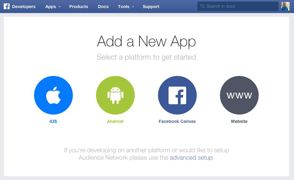 Neu für Entwickler: Facebook Quickstart