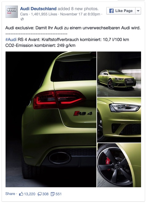 Audi exclusive: Damit Ihr Audi zu einem... - Audi Deutschland 2014-12-03 12-50-31