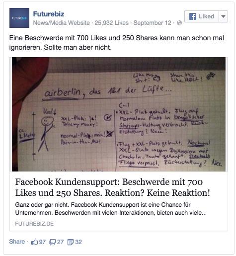 Futurebiz - Eine Beschwerde mit 700 Likes und 250 Shares kann man... 2014-12-03 12-46-20