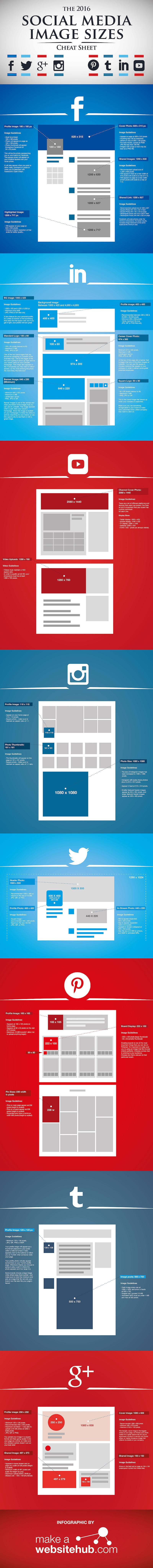 Bildgrößen Facebook, Twitter, Youtube, Instagram