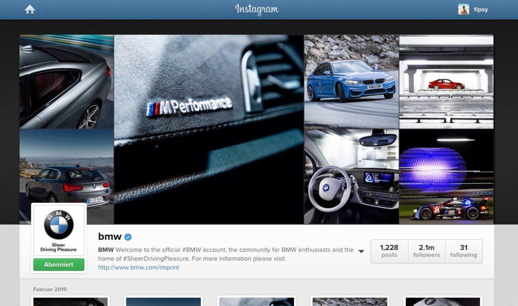Visual Content Revolution – Wie wichtig ist das Markenselfie? Visual Marketing auf Instagram am Beispiel von BMW #AFBMC