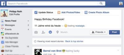 HAPPY BIRTHDAY FACEBOOK: Alles Gute zum elften Geburtstag!