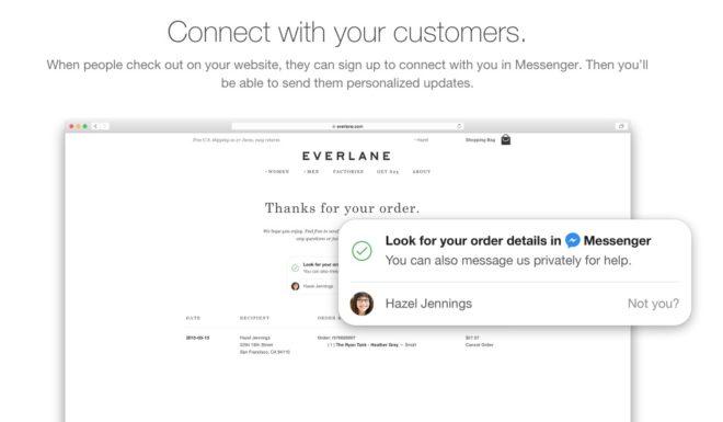 Ein Gespräch im Facebook Messenger mit einem Unternehmen starten