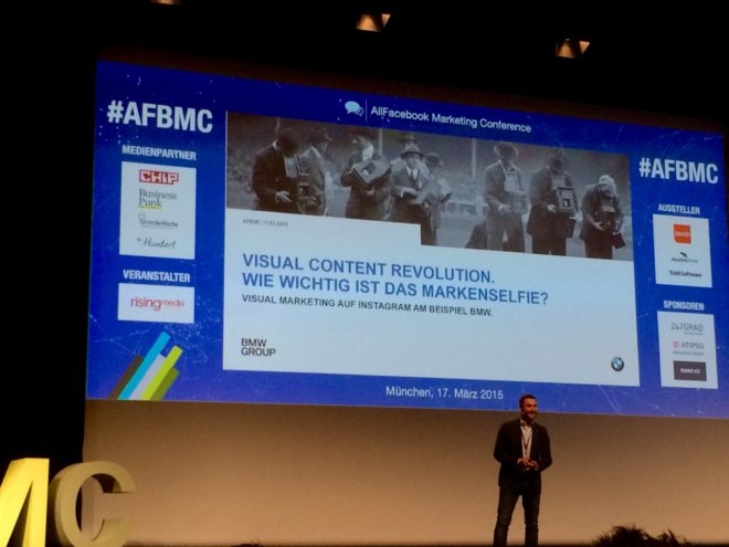 Allfacebook Marketing Conference BMW Visual content