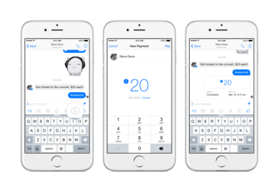 Jetzt offiziell: Geld an Freunde über den Facebook Messenger verschicken