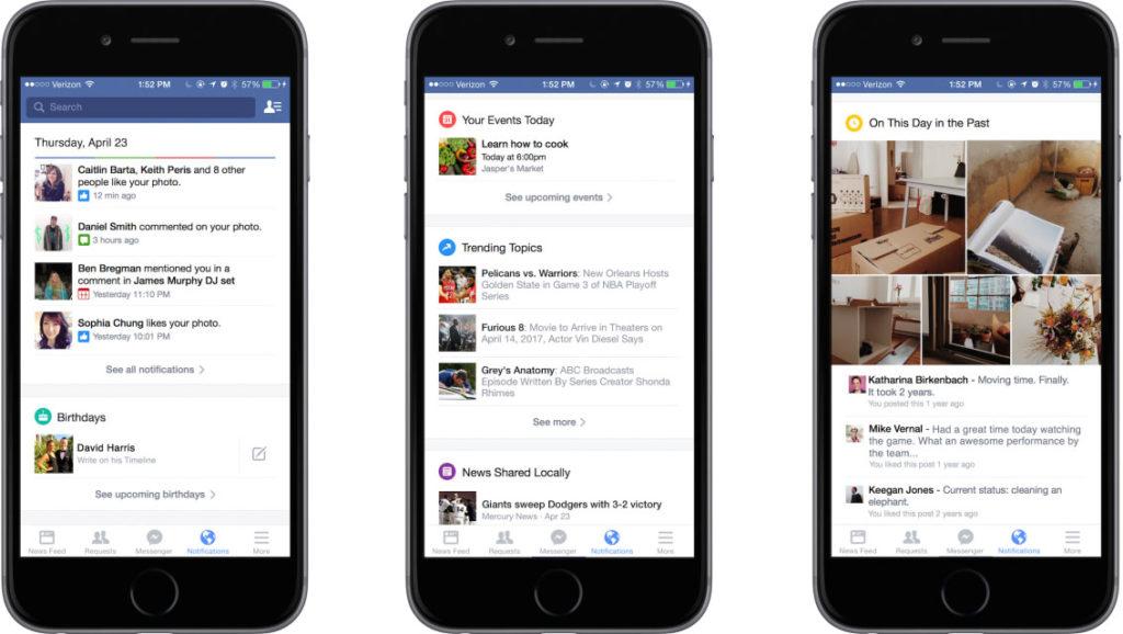 Erste Screenshots: So enorm baut Facebook eure Benachrichtigungen aus