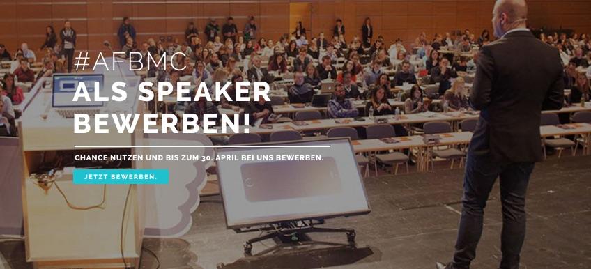 Jetzt Speaker für die #AFBMC am 5. November in Berlin werden!