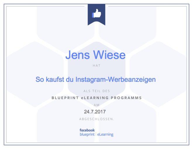 Mit facebook blueprint marketingwissen auffrischen und dazu gibt es ein kleines goodie bei jedem kapitel wer ein themengebiet abgeschlossen hat kann sich ein facebook zertifikat ausdrucken und aufhngen malvernweather Choice Image
