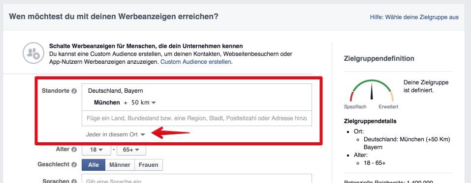 Mehr Kontrolle über das Geo-Targeting bei Facebook-Anzeigen