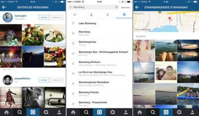 Instagram mit neuer Suche und neuem Explore-Feature in Version 7.0
