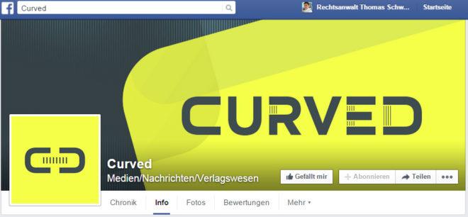 """Das Portal <em>Curved</em> ist , wie auch dessen <a href=""""https://www.facebook.com/Curved.de/"""">Facebook-Seite</a>, eine Content-Plattform der <em>E-Plus-Gruppe</em>, erweckt jedoch den Anschein der Neutralität. D.h. es muss sich an die Vorgaben des <strong>redaktionellen Trennungsgebotes</strong> (d.h. Trennung zwischen neutralen Artikeln und Werbung) halten, wie typische Presseangebote."""