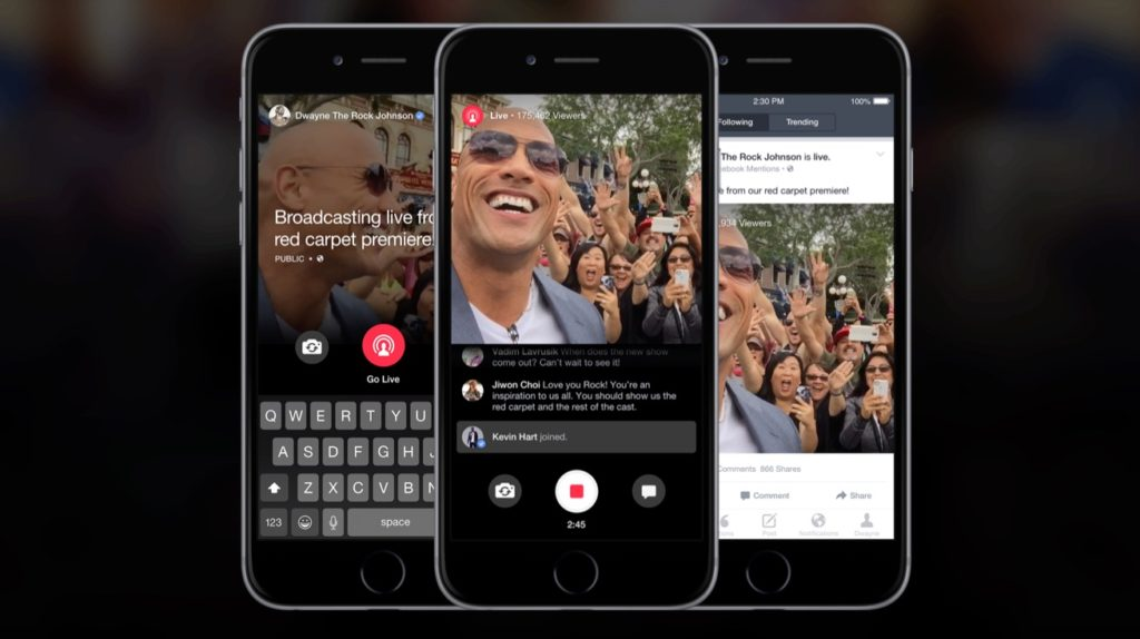 Livestreams auf Facebook: Medienseiten testen die Mentions Apps