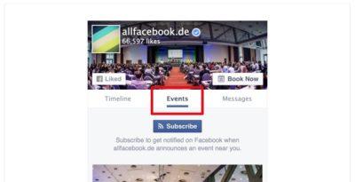 Facebook Events einfach auf der Webseite einbinden mit dem aktualisierten Page Plugin