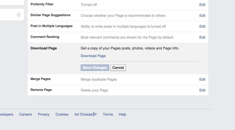 Page Backup