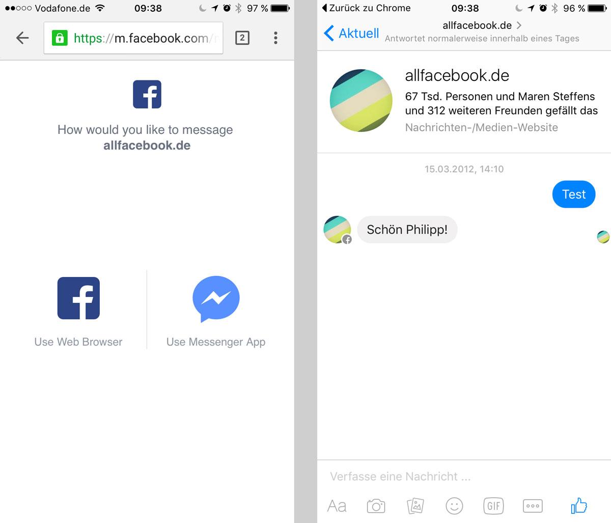 Messenger Short URL